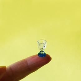 $enCountryForm.capitalKeyWord NZ - 10pcs blue wine glass miniatures dinnerware cute fairy garden gnome moss terrarium decor bonsai doll house decor diy supplies