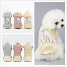 Halloween Pet Shirt NZ - F131 pet cotton vest pet dog summer vest puppy cotton vest cool thin summer T-shirt small pets summer clothes