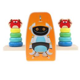 $enCountryForm.capitalKeyWord UK - Kid Baby Wooden Ring Blocks Balance Scale - Stacking Rainbow Tower Educational Toy Color Shapes Developmental