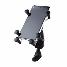 Evrensel Ayarlanabilir Motosiklet Bisiklet Bisiklet Telefon Tutucu Darbeye Gidon Cep Telefonu Samsung Iphone 6 6 s 7 T190620 Için Dağı Tutucu