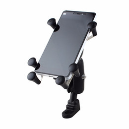 cell phone mounts for motorcycles UK - Universal Adjustable Motorcycle Bike Bicycle Phone Holder Shockproof Handlebar Cell Phone Mount Holder For Samsung Iphone 6 6s 7 T190620