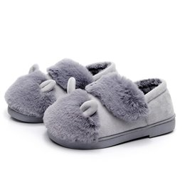 13a990fe0ec 2019 New Winter Cotton Slippers Women Bag With Indoor Home Thick Bottom Non-slip  Warm Month Shoes Winter Fur Slippers
