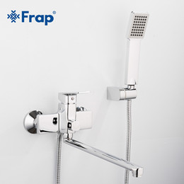 Brass water pipes online shopping - New Bathtub Shower Faucet with mm Outlet pipe bathroom faucets water mixer tap with Square hand shower head F2246