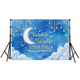 $enCountryForm.capitalKeyWord NZ - Space Blue Stars Shine Photo Backdrops White Clouds Photography Fantasy Fabric Vinyl Party Banner Studio Prop