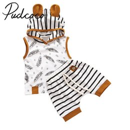 cute outfits tank tops NZ - 2pcs Pudcoco Toddler Newborn Baby Boy Girl Vest Tank Hooded Shirt Tops + Shorts Outfit Set