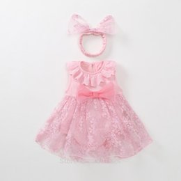Red White Blue Tutus Australia - 1 Year Birthday Old Outfits Newborn Tutu Tulle Baby Girl Summer Dress Red Pink Infant Princess Dresses Baby Vestido Y19050602