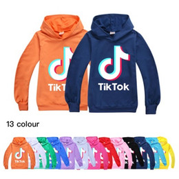 Wholesale Tik Tok Kids Long Sleeve Hoodies Boy Girl Tops Teen Kids TikTok Sweatshirt Jacket Hooded Coat Cotton Clothing