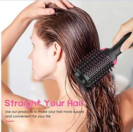 $enCountryForm.capitalKeyWord Australia - 2 in 1 Multifunctional Hair Dryer & Rotating Hair Brush Roller Rotate Styler Comb Styling Straightening Curling Iron ,hot air comb