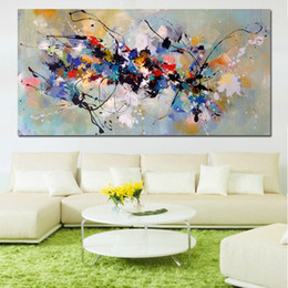 landscape blocks UK - Abstract Art Oil Painting On Canvas Painting Wall Pictures For Living Room bedroom Home Decor Canvas Painting Color block 191005