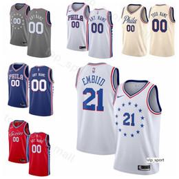 129fb20d6 Print Man Kids Woman Philadelphia Basketball 76ers Jersey Jimmy Butler Joel  Embiid Ben Simmons JJ Redick Edition City Earned Shirts