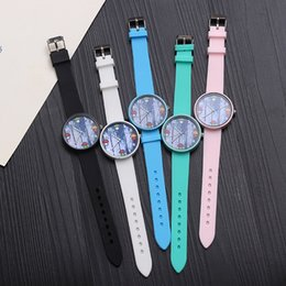Leather watch design for girLs online shopping - 2018 Japan Cute Style Women Watches Simple Lovely Watch For Student Children Boys Girls Cartoon Mushroom Design Quartz Watches