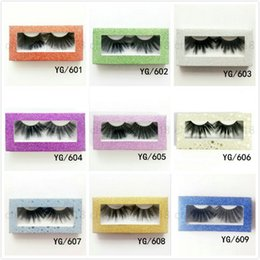 $enCountryForm.capitalKeyWord Australia - 2020 25mm False Eyelashes One Pairs YG Series 30 styles thick fiber Natural Eyelash Thick Natural Black Colorful retail box Fashion Soft 30g