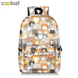 $enCountryForm.capitalKeyWord Australia - Cute Kitten Cats Backpack For Teenager Girls Women Causal Bag Children School Backpack Book Bag Kids Student School Bags Gift Y190529