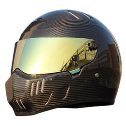 $enCountryForm.capitalKeyWord NZ - Karting Car Full Face Helmet Carbon Fiber Vintage Moto Helmet Motorcycle Helmet Men Locomotive Motocross Racing Car Anti-fog Visor XS-XXL