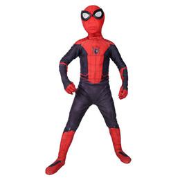 $enCountryForm.capitalKeyWord UK - Kids Spider Man Far From Home Peter Parker Cosplay Costume Zentai Spiderman Superhero Bodysuit Suit Jumpsuits