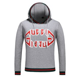 Best Brand Pullovers NZ - Best selling European and American fashion brand printing embroidery hooded sweatshirt autumn new hooded jacket men's women's pullover loose