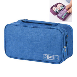 Packed bras online shopping - Underwear Sock Storage Bag Travel Accessories Bra Brassiere Underclothes Clothing Organizers Packing Box Colors