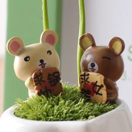 China Cartoon Love Bear Mini Doll Ornament Moss Micro Landscape Decoration Succulent Plants Pot Accessories Fairy Garden DIY Material Zakka Toy cheap material love doll suppliers