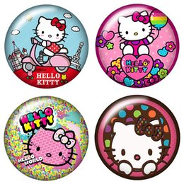lovely heart photos Australia - 2019 Fashion Lovely hello kitty 20pcs 16mm20mm25mm Round photo glass cabochon demo flat back Making findings