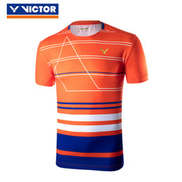 Discount malaysia jerseys Victor 2018 World Championships Malaysia National Team Competition Badminton Uniform Sport Jersey Clothes For Men 85003