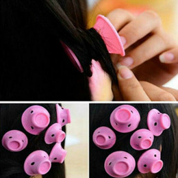 Rubber Hair Rollers Australia - Soft Rubber Magic Hair Curlers Hair Style Roller Hairstyle Soft Care DIY Peco Roll Salon Soft Silicone Pink Color Hair Roller 03