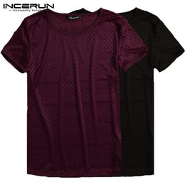 $enCountryForm.capitalKeyWord NZ - Chic See Throught Men Muscle Tee Joggers T Shirt Fishnet Hollow Shirt Casual Tops Camisa Hombre Clothing Bodybuilding Crossfit