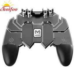 Discount free game android - AK66 PUBG Mobile Gaming Game Pad Free Fire PUBG Game Controller Joystick Metal L1 R1 Trigger for 4.5-6.5inch Android iOS