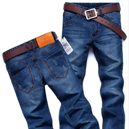 cheap lights for sales NZ - 2019 high quality Brand New Men's Fashion Jeans Hot Jeans For Young Men Sale Men's Pants Casual Slim Cheap Straight Trousers