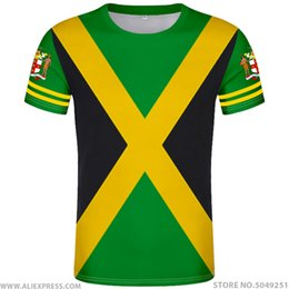 Flags nations online shopping - JAMAICA t shirt diy free custom made name number jam t shirt nation flag jm Jamaican country college print photo logo clothing