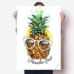 "Wall Sticker Fruits Australia - DIYthinker Sunglasses Pineapple Tropical Fruit Vinyl Wall Sticker Poster Mural Wallpaper Room Decal 31x22"""