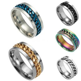 roman numerals ring wholesale Australia - Fashion Vintage Roman Numeral Rings High Quality Mens Titanium Steel Chain Rotating Rings Jewelry Gifts 3-Gj570 #683