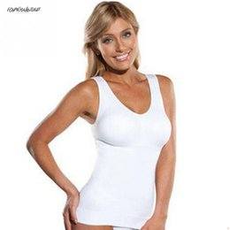 $enCountryForm.capitalKeyWord Australia - Shaper Polyester Hot Slim Slimming Lift Plus Size Bra Cami Tank Top Women Body Shaper Removable Shaper Underwear Up Vest Corset Shapewear