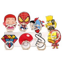 cell phone decoration accessories Australia - Ring buckle mobile phone bracket cartoon animation lazy bracket DIY decoration accessories Cell Phone Mounts & Holders 32 Style DHL