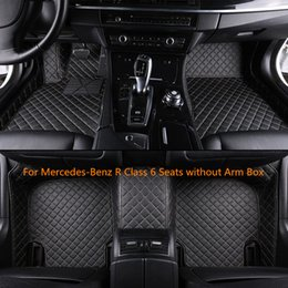 $enCountryForm.capitalKeyWord NZ - Waterproof Leather Car Floor Mats For Mercedes-Benz R Class 6 Seats without Arm Box Front and Second Row Offered 3 Pieces Car Mats
