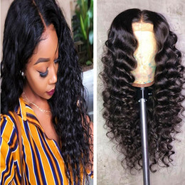 $enCountryForm.capitalKeyWord Australia - Virgin Hair Lace Front Wigs Deep Wave Band Pre Plucked Human Hair Lace Wigs Deep Wave Curly for Black Woman