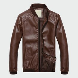Mens Faux Fur Lining Jacket NZ - Men's Leather Jacket Classic Male Pu Faux Thin Coats Motorcycle Coat Biker Jackets Mens Spring Autumn Brand Clothing Ml010
