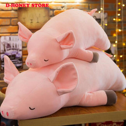 pig stuff toys Australia - 30CM 50cm Pink Pig Plush Toys High Quality Hot Sale Soft Stuffed Cartoon Doll for Children's cut stuffed animals
