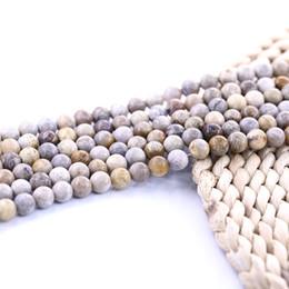 $enCountryForm.capitalKeyWord Australia - Natural Gemstone Fossilized Coral Jasper Smooth Round beads 15 inch strand per set For Jewelry Diy