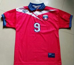 soccer jerseys chile NZ - World Cup 98 Chile Zamorano Retro Soccer Jersey 1998 Chile Salas Football Shirts