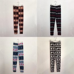 Wholesale hot free tight leggings resale online - Fashion Slim Tight Pants Women Cute Christmas Elastic Force Leggings Lady Fawn Print Trousers Hot Sale jy Ww