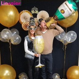 party decorations for year Canada - Big Champagne Foil Balloons 2019 Merry Christmas 2020 Happy New Year Party Decorations for Home Tree Ornaments Supplies