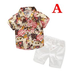 864370297c88 1-5Years Baby Boys clothes Boys Floral Shirts with Cotton Short pants Kids  Fashion Gentleman Summer Outfits Casual Sets Clothing 2pcs set