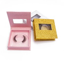PaPer box Pvc window online shopping - Magnet Glitter paper eyelash box d mink eyelashes packaging box PVC Window Faux Mink Eye Lashes packaging False eyelashes package box case