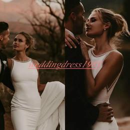 $enCountryForm.capitalKeyWord Australia - Simple Style Garden Mermaid Satin Wedding Dresses Spring Beads Crew Neck Vestido de novia Bride Dress Custom Arabic Plus Size Bridal Gown