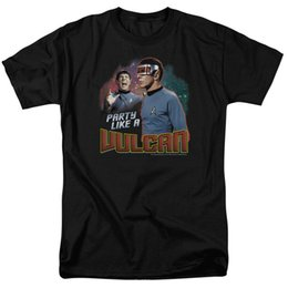 3ebe3ada0414 Party Shirt Photo Australia - Star Trek Party Like A Vulcan Licensed Adult T  Shirt Star