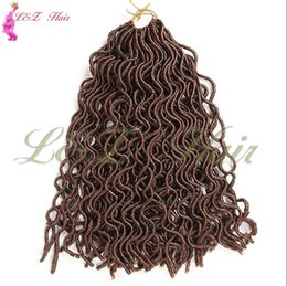 kanekalon weave Australia - Kanekalon crochet Braids Hair Weave Nu 18inch Faux Locs Curly Roal Goddess Faux Locs Crochet Hair Soft Curly End Natural Kanekalon