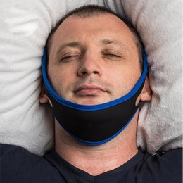 snoring solutions chin strap NZ - Anti Snore Stopper Snoring Chin Strap Belt Anti Apnea Jaw Solution Sleep Support Apnea Belt Sleeping Mouth Guard tool