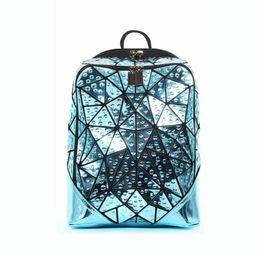 $enCountryForm.capitalKeyWord NZ - Men Geometric Sequin Laser Backpack Female Laptop Backpack Book Bag School Casual Rucksack Travel Daypack Women Pink Backpack