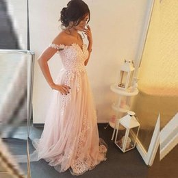 $enCountryForm.capitalKeyWord Australia - Blush Pink Wedding Dresses 2019 Sweetheart Sleeveless Spaghetti Straps Lace Appliques Tulle A Line Bridal Gowns Custom Made Colors