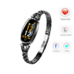 Best smart watches ios online shopping - Newest H8 smart watch women smart wristband bracelet Heart Rate Monitor blood pressure blood oxygen smart band best gift for Lady pk iwatch